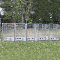4' x 6' x 6' Multiple Modular Welded Wire Professional Kennel Dog Run for Five Dogs