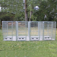 4' x 6' x 6' Multiple Modular Welded Wire Professional Kennel Dog Run for Four Dogs