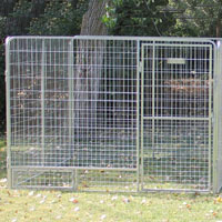 8' x 16' x 6'  Basic Modular Welded Wire Kennel Dog Run