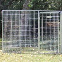8' x 16' x 6'  Basic Modular Welded Wire Kennel Dog Run