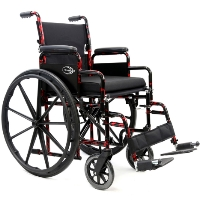 Brand New High Quality Karman Lightweight Manual Wheelchair - LT-770Q Red Streak – 37 lbs