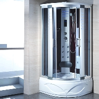 "Corner Steam Shower Enclosure with Hydro Massage Jets 41 ½"" x 41 ½"" - 8002-A"