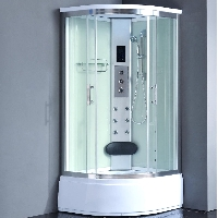 "Corner Shower Enclosure with Hydro Massage Jets 36"" x 36"""