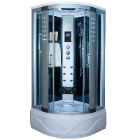 Corner Steam Shower Enclosure with Hydro Massage Jets