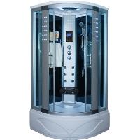 "Corner Steam Shower Enclosure with Hydro Massage Jets 36"" x 36"" - 8004-A"