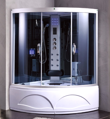 Corner Shower Room Enclosure With Hydro Massage Jets U0026#8203;u0026#8203;53u201d X  53u201d X ...