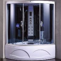 "Corner Shower Room Enclosure with Hydro Massage Jets ​​53"" x 53"" x 84½"""
