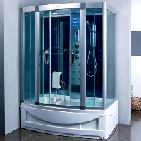 "Rectangle Steam Shower and Tub Enclosure with Hydro Massage Jets 59"" x 35 ½"""