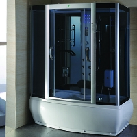 "Rectangle Steam Shower & Whirlpool Tub Enclosure with Massage Jets 67 ¼"" x 35 ¾"""