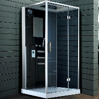 "Square Shower Room Enclosure with Hydro Massage Jets 39 ¾"" x 39 ¾"""