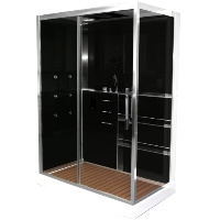 "Rectangle Shower Room Enclosure with Hydro Massage Jets ​59"" x 35 ½"""