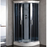 "Corner Shower Room Enclosure with Rainfall Shower Head ​36"" x 36"""