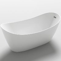Freestanding Bathtub Modern Seamless Acrylic Bathtub - Bolsena