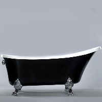 Freestanding Bathtub Modern Seamless Acrylic Bathtub - Cesano Black