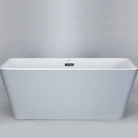 Freestanding Bathtub Modern Seamless Acrylic Bath Tub - Garda Grey 60""