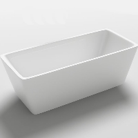 Freestanding Bathtub Modern Seamless Acrylic Bathtub - Garda 60""