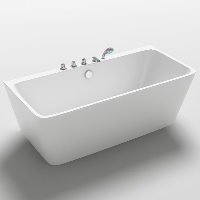 Freestanding Bathtub Modern Seamless Acrylic Bathtub - Iseo