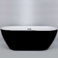 Freestanding Bathtub Modern Seamless Acrylic Bath Tub - Lamone Black