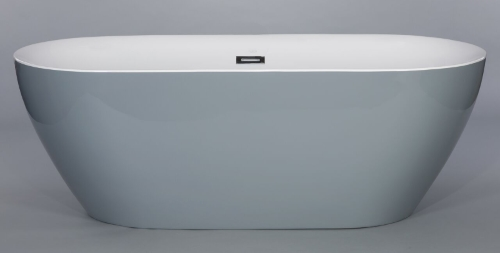 Freestanding Bathtub Modern Seamless Acrylic Bath Tub Lamone Grey
