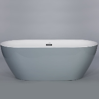 Freestanding Bathtub Modern Seamless Acrylic Bath Tub - Lamone Grey