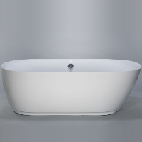 Freestanding Bathtub Modern Seamless Acrylic Bath Tub - Lamone White