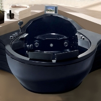 "57"" x 57"" Massage Jetted Whirlpool Hot Tub Spa Bathtub"
