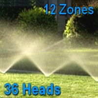 Brand New Small-Lawn Sprinkler System Kit - 36 Heads
