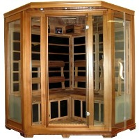 Indoor 4 - 5 Person (Corner Type) FIR Infrared Carbon Fiber Sauna - With RED CEDAR