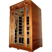 Victorian 1 - 2  Person FIR Infrared Carbon Fiber Sauna - With Red Cedar