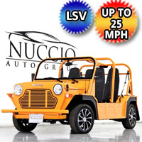 Moke LSV Electric Golf Cart American Mini 4 Seater In Stock - Orange