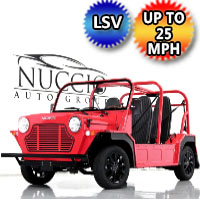 Moke LSV Electric Golf Cart American Mini 4 Seater In Stock - RED