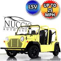 Moke LSV Electric Golf Cart American Mini 4 Seater In Stock - Yellow