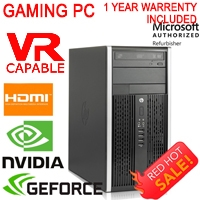 Gaming Computer PC Nvidia GTX 1050 Quad Core i7 16GB 500Gb Windows 10 WiFi HDMI