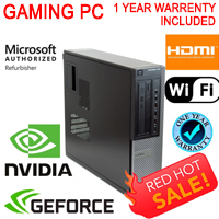 Dell Gaming Computer PC Nvidia GT1030 2G DDR5 HDMI WiFi Quad i5 8GB 500GB Win 10
