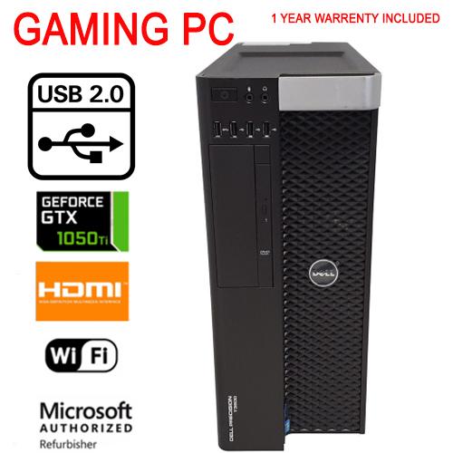 Fast Dell Gaming Tower Nvidia GTX 1050 Ti 16Gb 500Gb Ssd 500G SATA Windows  10
