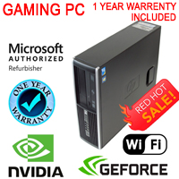 FAST Hp Gaming Tower Computer PC Nvidia GT1030 Windows 10 i5 3.1Ghz 8Gb 500G WiFi HDMI