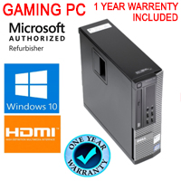 Dell Desktop Computer PC High Def HDMI 1080 i5 8GB New 250GB SSD WiFi Windows 10