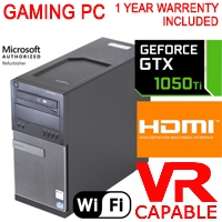 Dell Gaming Computer PC ( Nvidia GTX 1050 Ti 4GB ) Core i7 3.4Ghz 16GB HDMI WiFi