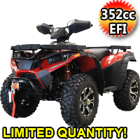 "MSA 400 ATV 352cc Four Wheeler 4 x 4 Four Wheel Drive w/ 25"" AT Tires"