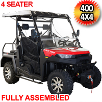 Buck 450X Gas Golf Cart UTV Utility Vehicle 25HP 2WD/4WD With Extended Roof
