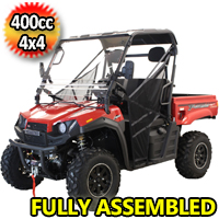 T-BOSS 410 Gas Golf Cart UTV Utility Vehicle 25.5HP 2WD/4WD With Dump Bed