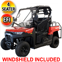 Gas Golf Cart EFI UTV Buck 250X 4 Seater Utility Vehicle - MMS-BK250X-BL