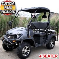 Brand New Gas Golf Cart UTV Hybrid Linhai Big Hammer 200 GVX Side by Side UTV With Custom Rims/Tires - Gray