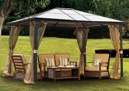 10 X 12 Outdoor Hardtop Polycarbonate Roof Patio Gazebo W