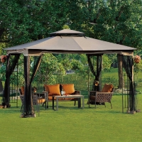 10x12 EZ Pop Up Tent Instant Patio Gazebo Canopy Shade w/ Mosquito Netting
