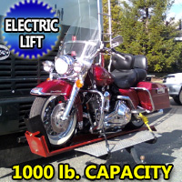 1000LB Motorcyle Carrier Electric Hydraulic Lift