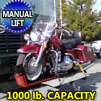 1000LB Motorcyle Carrier Manual Hydraulic Lift