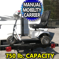 750LB Personal Mobility Scooter Carrier Manual Hydraulic Lift