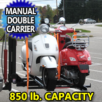 850LB Motorcyle Scooter Double Carrier Manual Hydraulic Lift