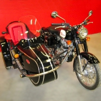 Euro Retro Side Car Motorcycle Sidecar Kit - Fits All Models